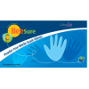 BeeSure Light Blue Nitrile Glove Small