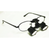 Feather Sight Loupes & Feather Light LED Combo:  #FT1 Standard Frame - Flip-Up (3.5x Magnification)
