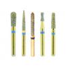 Crosstech 24k Gold Short-Shank Diamond Burs - All Shapes